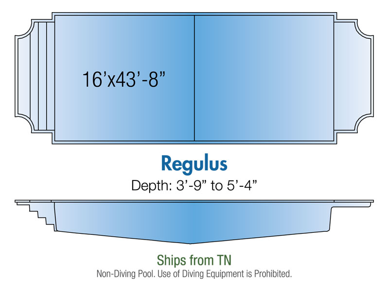 regulus fiberglass pool