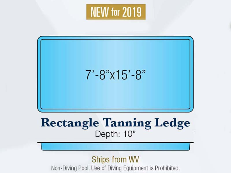 Rectangle Tanning Ledge