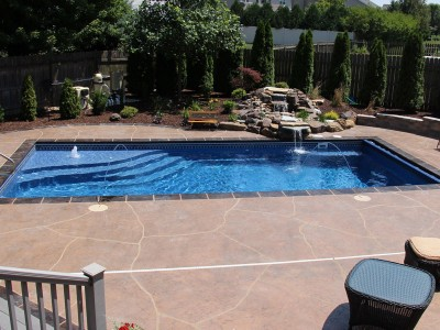 Viking Majesty Fiberglass Pool Installed in Birmingham Al